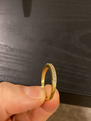 18K Gold plated Engagement Trendy Ring for Sale in Miami, FL