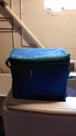 Insulated cooler with plates cups and utensils for Sale in Glenshaw, PA