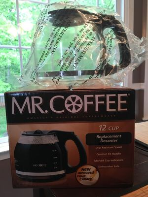 Mr. Coffee 12 cup replacement decanter for Sale in Manassas, VA