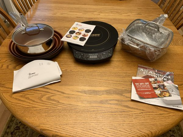 NEW!! NuWave PIC Gold Cooktop ++ Pans, Lisa, Books