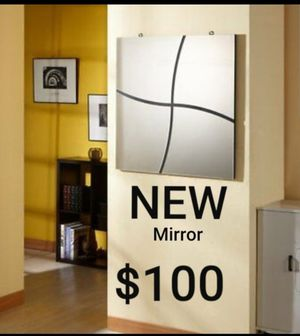 Wall Mirror with Swirl Accents, Silver/Pewter for Sale in Montebello, CA
