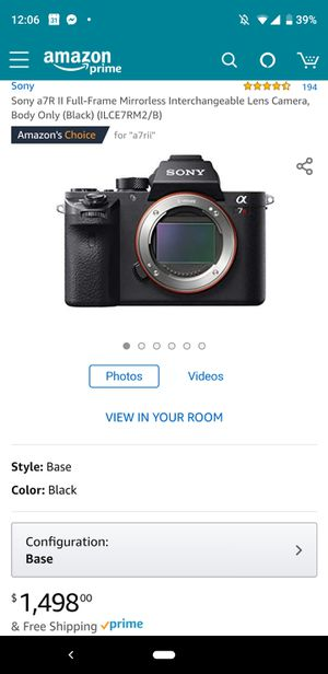 Sony A7Rii 42.2MP Full Frame Mirrorless camera *NEW* for Sale in Santa Clara, CA