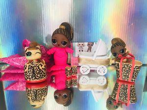 LOL Surprise Dolls Fierce, Lil Sis, Pet plus Bonus Stroller! for Sale in Hayward, CA