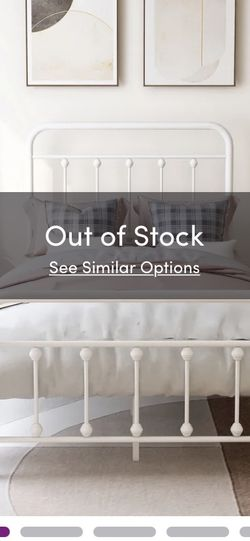 Twin Bed White Metal for Sale in Cleveland,  OH