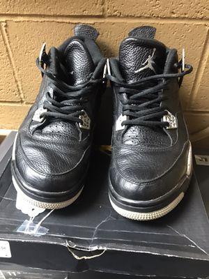 Nike Air Jordan 4 IV Retro LS Oreo Men's US Size 12 Black/Tech Grey 314254 003 for Sale in Los Angeles, CA