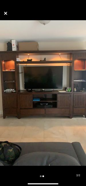 Entertainment Center with Lights for Sale in Fort Lauderdale, FL