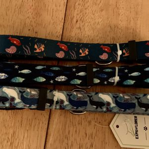 Fish And Whale Ocean Print Dog Collars-Set Of 3 for Sale in Rancho Cucamonga, CA