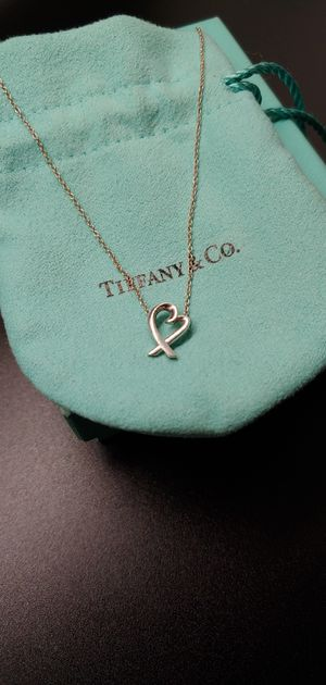 Tiffany Co. Paloma Picasso Loving Heart Necklace Pendant Sterling Silver 925 for Sale in Tacoma, WA