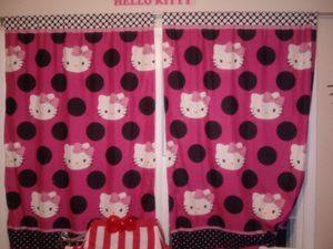 Hello Kitty Curtains and draw back straps! for Sale in Goodlettsville, TN