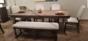 """80""""/TABLE,BENCH AND 4 CHAIRS $699/ALL IN BOXES for Sale in Angelus Oaks, CA"""