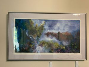 Beautiful framed piece by Judith Campanaro. The title is sacred space. It is a numbered piece number 52 of 300 prints. for Sale in Newcastle, WA