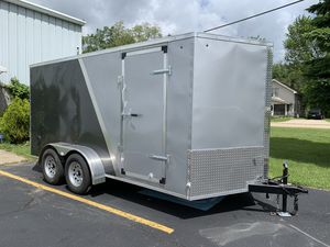 Enclosed Trailer. Brand new, tagged titled and licensed. I have in my possession. I'm in carol stream for Sale in Wood Dale, IL