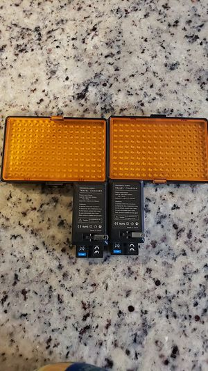 LED photography adjustable panel lights with batteries for Sale in Portsmouth, VA