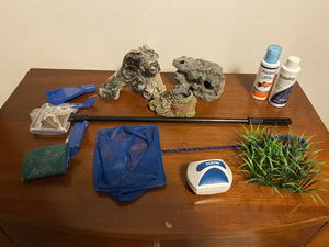 Fish tank decor and maintenance supplies for Sale in Swansea, IL