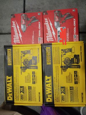 (2) Dewalt rottary Hammer/2 milwakee impact driver(NEW) for Sale in San Francisco, CA