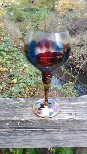 Royal Darube wine goblets hand painted in Romania for Sale in Beaverton, OR