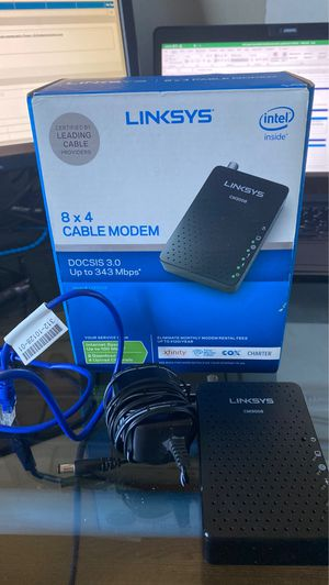 Linksys cable modem for Sale in Troy, MI