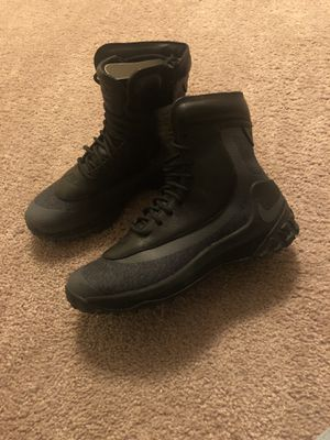 Women Black leather Nike boots police security work for Sale in Cleveland, OH