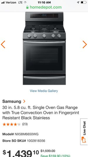 """New stove gas range convection oven Samsung black stainless steel w 30"""" for Sale in South El Monte, CA"""
