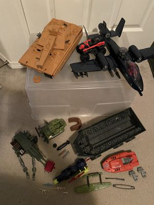 Vintage GI Joe action figure vehicle lot ARAH, 80s figures - Mauler, Rattler and more! for Sale in Salem, OR