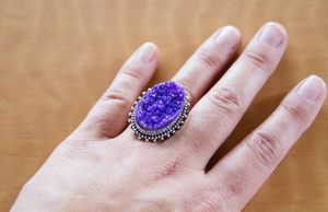 Ring - size 8 purple druzy ring for Sale in Tacoma, WA
