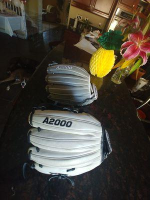 Wilson A2000 softball / baseball gloves for Sale in Yucaipa, CA