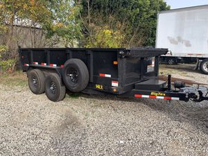 Big text dump trailer equipment trailers bobcats skid steer breakers for Sale in Chino, CA
