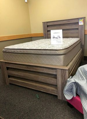 Best DEAL 🍺🍾  FREE Delivery  👍 Zelen Warm Gray Panel Bedroom Set | B248 291 for Sale in Houston, TX