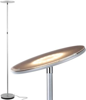 Brightech Sky LED Torchiere Floor Lamp - Platinum Silver for Sale in St. Petersburg, FL