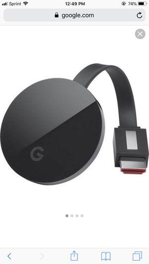 Chromecast ultra google for Sale in VA, US