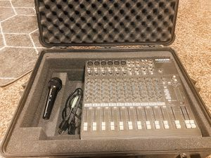 Mackie 1402-VLZ PRO compact mixer & Pelican 1600 case + free mic for Sale in Nampa, ID
