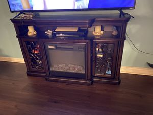 Electric fireplace tv stand for Sale in Winter Haven, FL