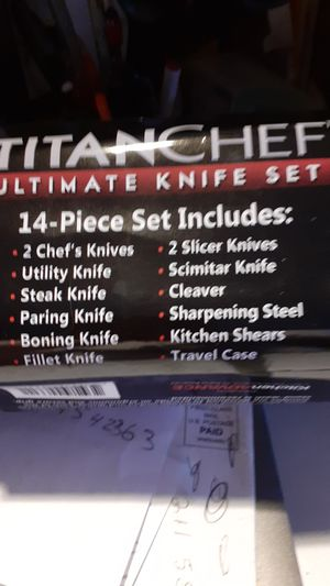 Titanchef professional knife set for Sale in Central Falls, RI