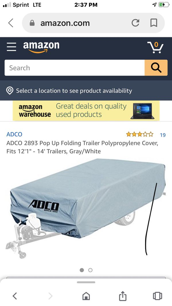 Poly folding trailer cover. Never opened