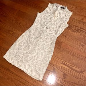 cream paisley embroidered lace bodycon dress for Sale in Artesia, CA