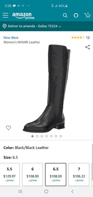 New Nine West Leather boots 6.5 for Sale in Dallas, TX