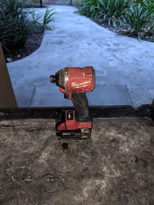 Brushless Milwaukee drill with 5 amp battery 18v for Sale in Rancho Cucamonga, CA