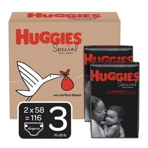 Huggies Special Delivery Hypoallergenic Baby Diapers, Size 3, 116 Ct, One Month for Sale in Chamblee, GA