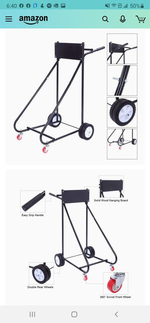 TUFFIOM Outboard Boat Motor Stand, Engine Carrier Cart Dolly for Storage for Sale in Riverside, CA