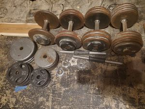Dumbells + 300lbs of weights for Sale in Tacoma, WA