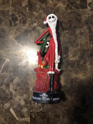 Nightmare Before Christmas **JACK SKELLINGTON FIGURINE**SANTA CLAUS SUIT** for Sale in Elgin, IL