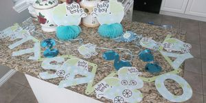 Boy baby shower decorations $5 for Sale in Dallas, TX