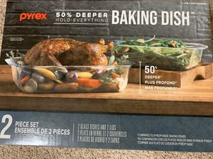 Brand new, Pyrex 50% deeper baking dish with lid for Sale in Aliso Viejo, CA