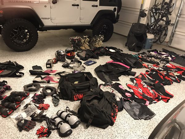 Motorcycle dirt bike gear. Will sell the lot or piece it out.