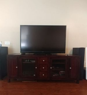Home theater set: includes two floor speakers, wireless subwoofer and receiver for Sale in Ellenton, FL