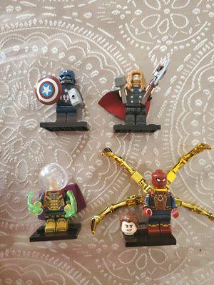 Lego. Marvel. Thor. Spiderman. Captain America. Mysterio. for Sale in El Paso, TX