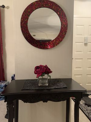 Entry table with a mirror and rug. for Sale in West McLean, VA