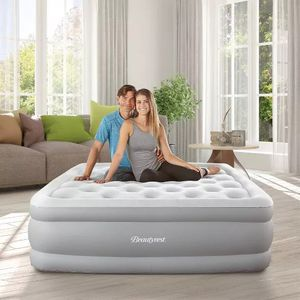 """Simmons Beautyrest Sky Rise 18"""" Queen Air Mattress with Electric Pump - Silver for Sale in Sachse, TX"""