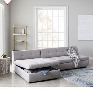 West Elm 2 Piece Sectional With Storage Chaise for Sale in East Los Angeles, CA