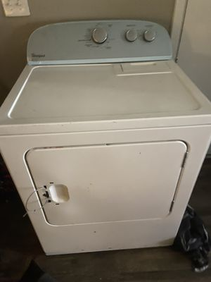 Whirlpool dryer, works great handle broke but works great has the hose's and everything it needs to work, will trade for small deep freezer 75.00 for Sale in Midwest City, OK